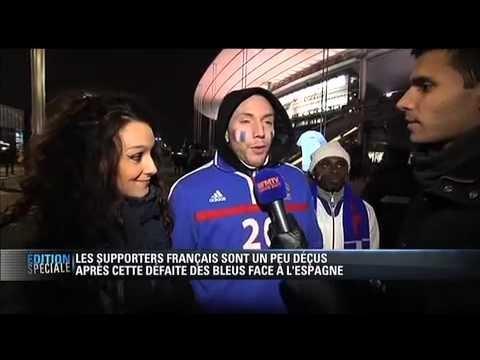 FOOTBALL -  BFM TV - France - Espagne : les supporters français déçus - 26/03 - http://lefootball.fr/bfm-tv-france-espagne-les-supporters-francais-decus-2603-2/