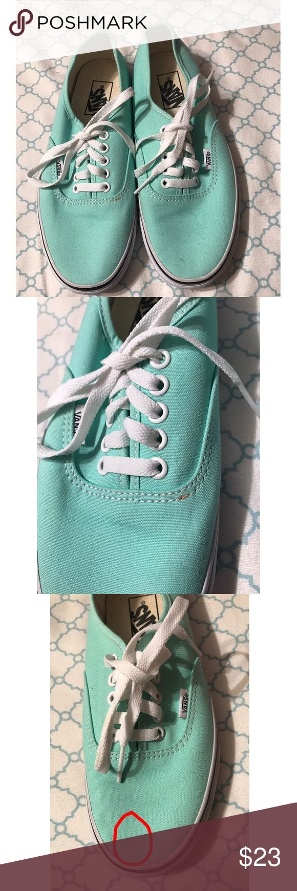Mint Vans Authentics Never worn. Two small stains as pictured. Vans Shoes Sneakers