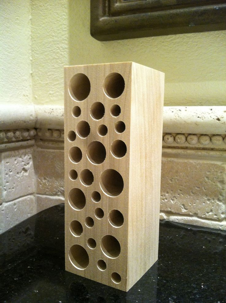 Handmade Wooden Makeup Brush Holder & Bathroom Organizer - No Finish/Craft Ready/DIY. $20.00, via Etsy.