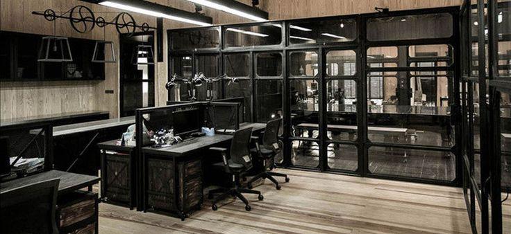 Офис в стиле индустриального ретро