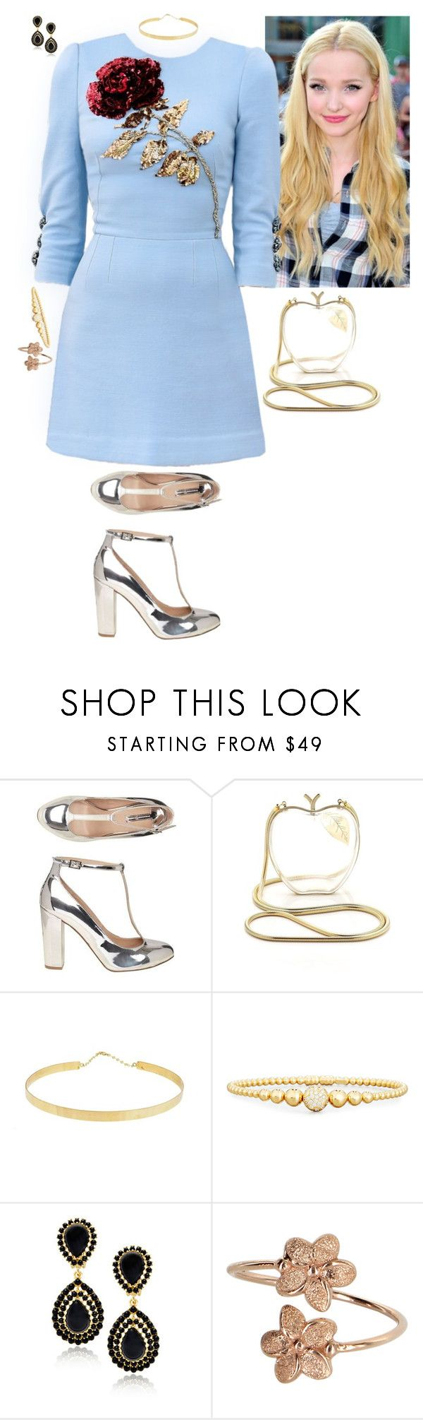 """Untitled #242"" by stinze on Polyvore featuring Dolce&Gabbana, Dorothy Perkins, Lena Erziak, Lana Jewelry, Rivière and Kenneth Jay Lane"