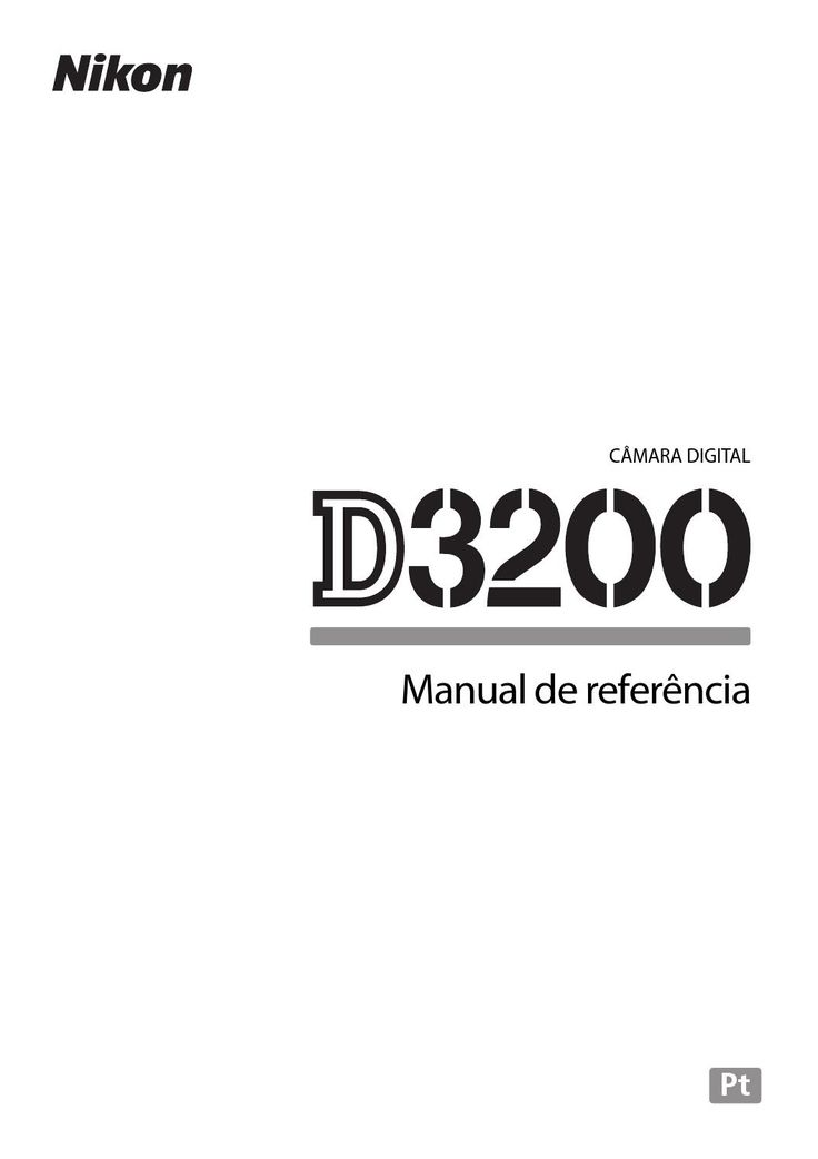 Manual Em português da Nikon D3200