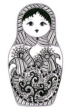 babushka doll drawing - Google Search