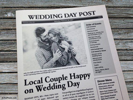 Free Wedding Program Templates Newspaper Wedding Programs