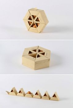 Interesting take on the egg box design hopefully giving added protection to the eggs. Very different and could save on storage space