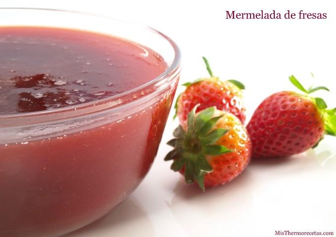 Receta mermelada de fresas thermomix espesada con gelatina.