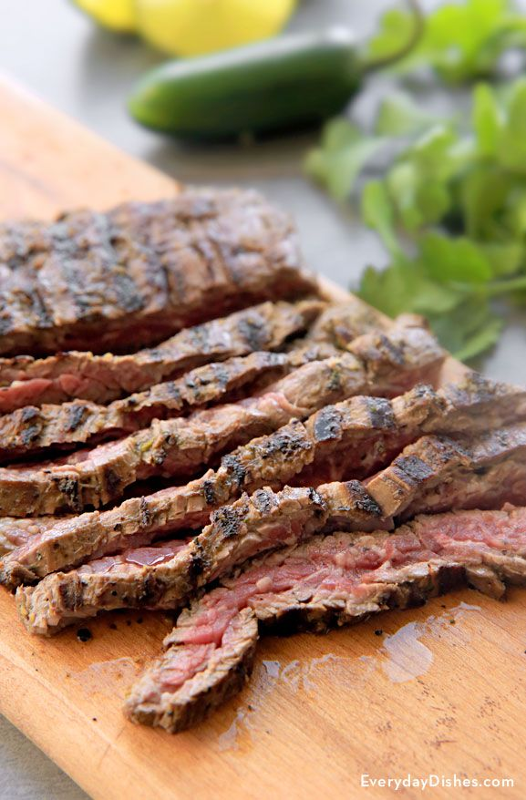 Keep the mess outside and make a great meal! Our easy marinated skirt steak recipe is seared to perfection on the outside and tender 'n juicy on the inside.