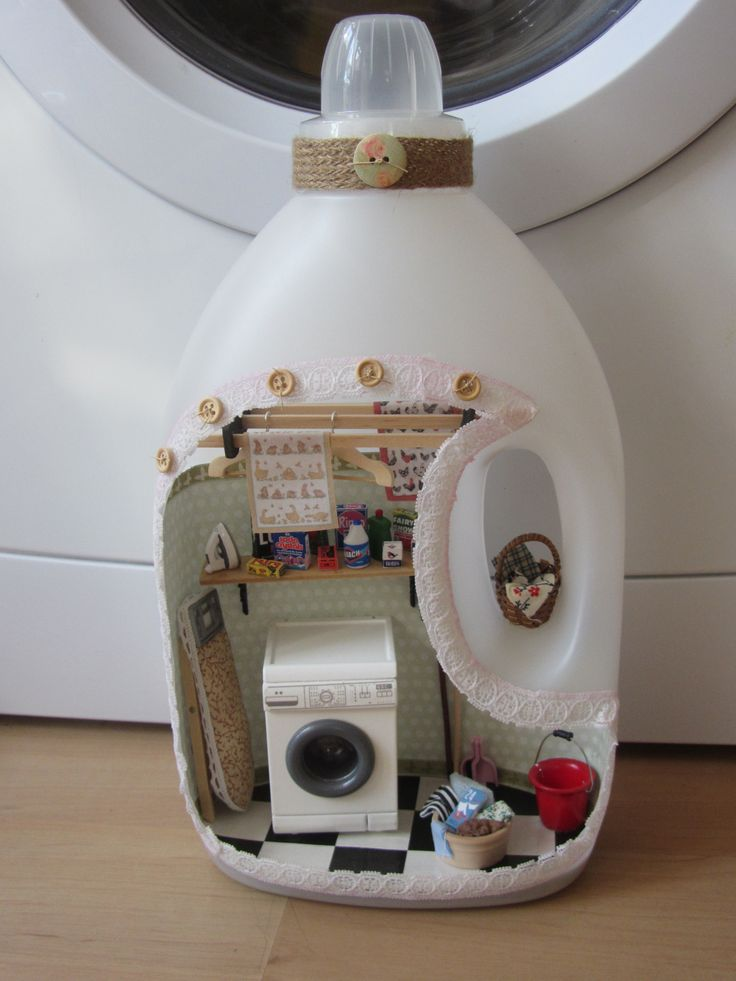 A miniature laundry for the fairies and borrowers who live in my house.