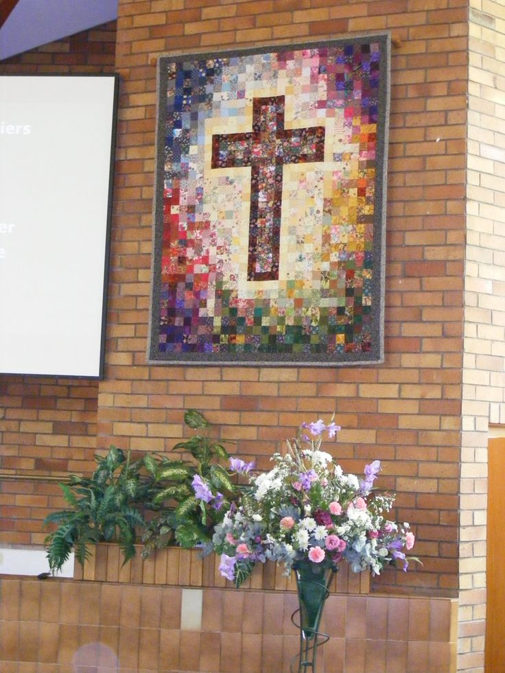 Patchwork Cross - made for Benoni Baptist Church in 2014