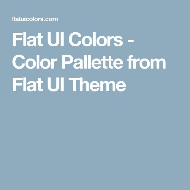 Flat UI Colors - Color Pallette from Flat UI Theme
