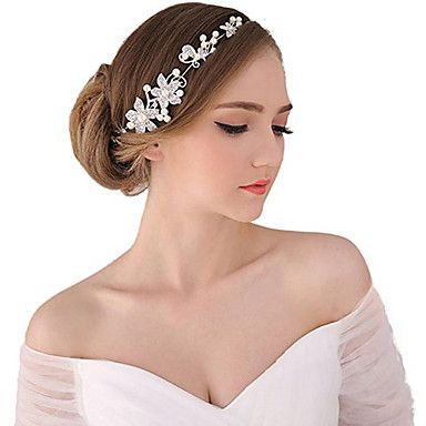 Women's+Pearl+Rhinestone+Wedding+Bridal+Headpieces+–+USD+$+4.43