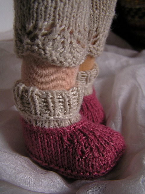 knitted doll shoes and socks