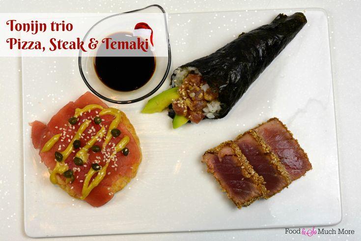 Tonijn trio - Sashimi pizza, Temaki, Steak // Food & So Much More