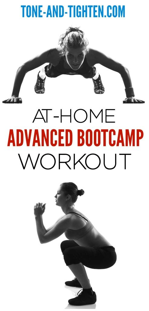 Intense Advanced Bootcamp Workout you can do at home on Tone-and-Tighten.com