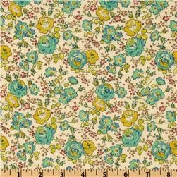 Liberty of London Tana Lawn Felicite Lime fabric