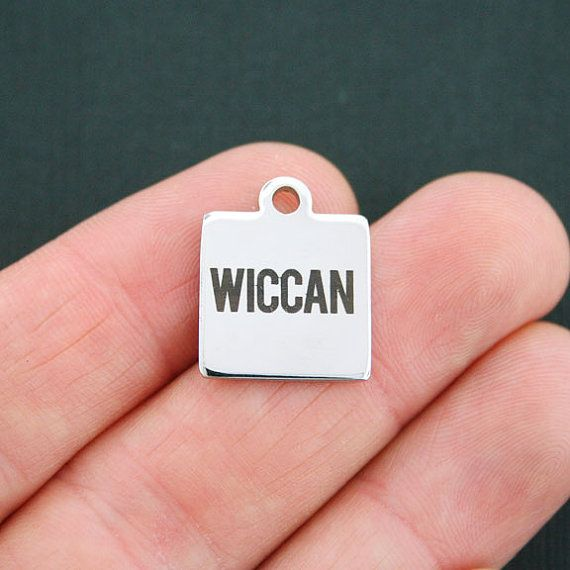 Wiccan Charm Polished Stainless Steel  by BohemianFindings on Etsy