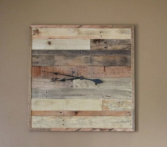 Reclaimed Pallet Wood Wall Clock HUGE 30 x 30 Handmade by RayMels