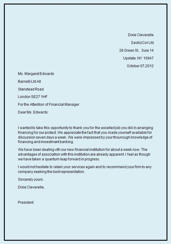 Business Letter Template Business Letter Format Writing