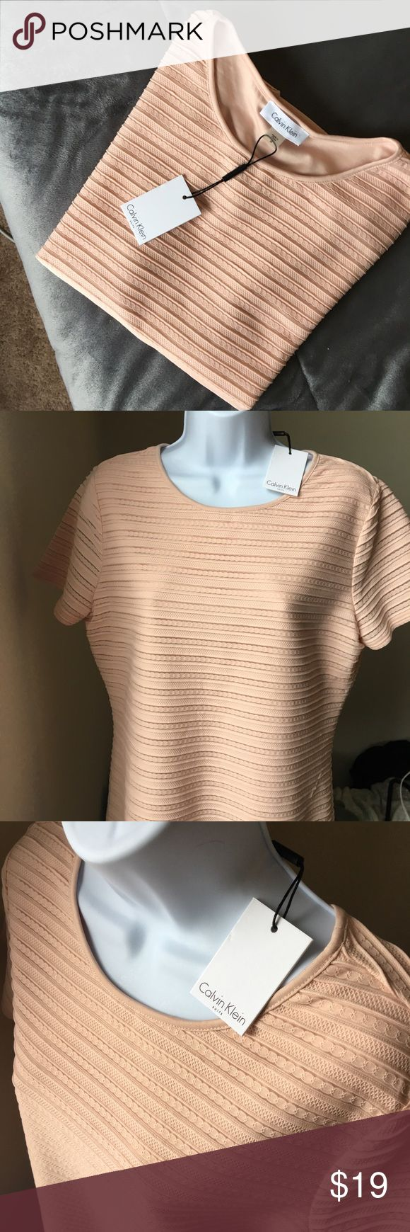Calvin Klein Top NWT Brand new dressy pink top! Perfect for a pant suit or pencil skirt. Calvin Klein Tops