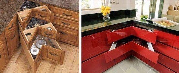 Практичное решение для угла кухни