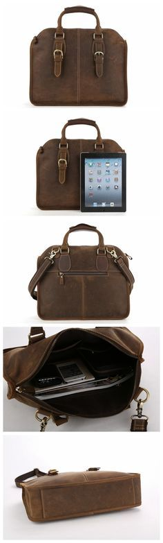 Laptop Briefcase Mens Messenger Shoulder Computer Bag Notebook Bag