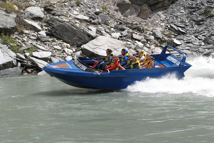 Take a great jet boat ride in Skippers Canyon near #Queenstown. Best to close your eyes on the drive in, however. Yikes!