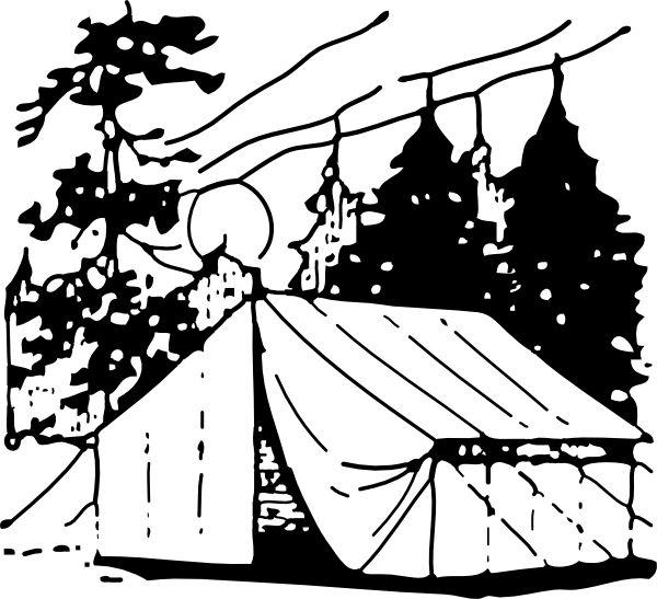 Black And White Camper Clip Art