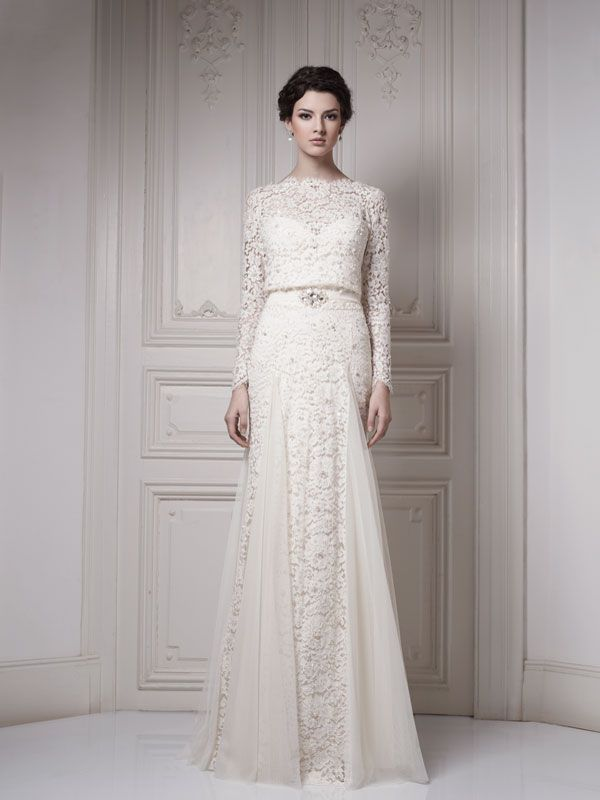 #wedding #dress #gown #bridal #sleeves #modest #lace