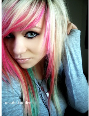 Have the pink down, just need the bleach blonde hair
