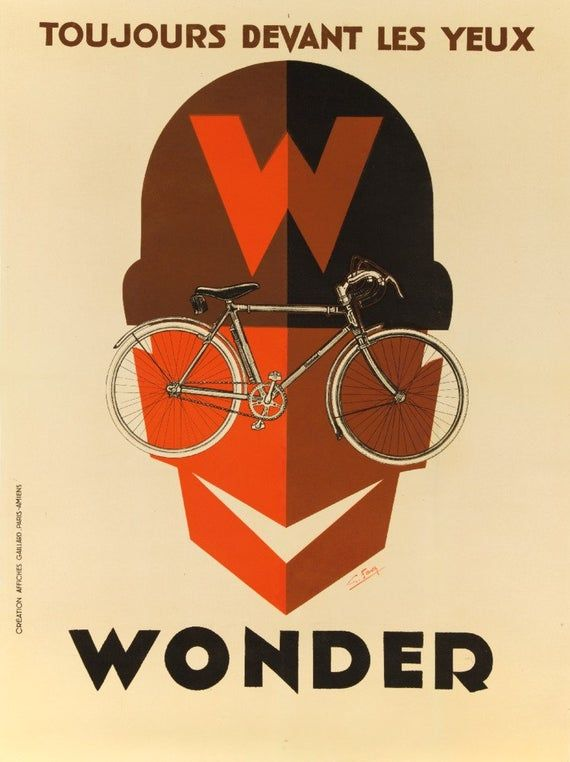 Les Cycles French France Wonder Bicycle Advertisement Art Poster Print