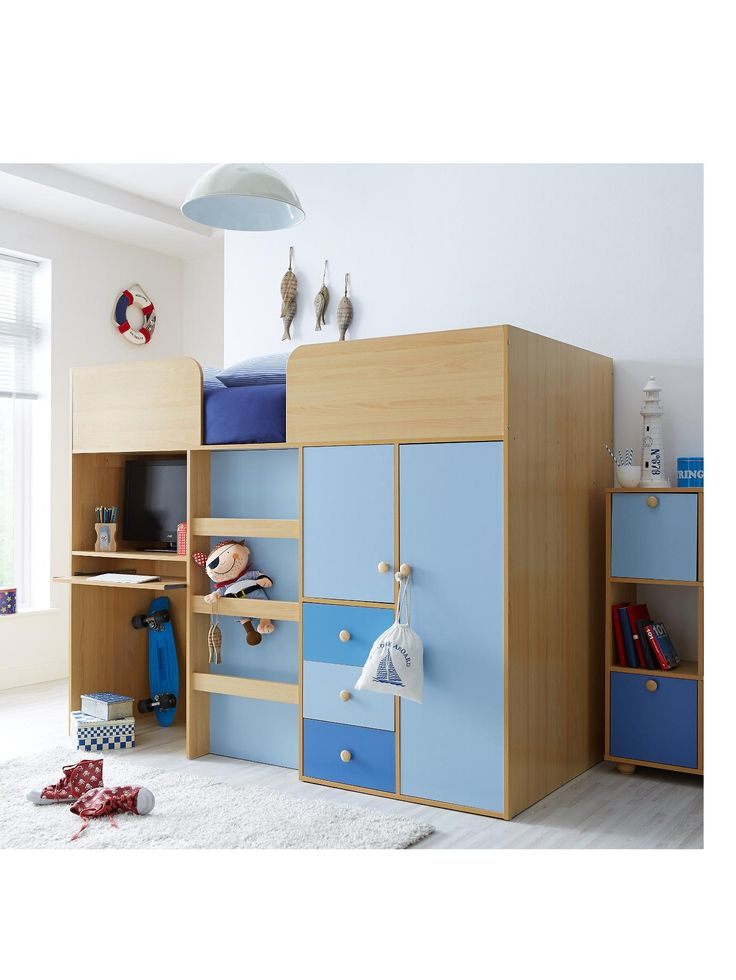 kidspace metro kids midsleeper bed desk and storage veryco