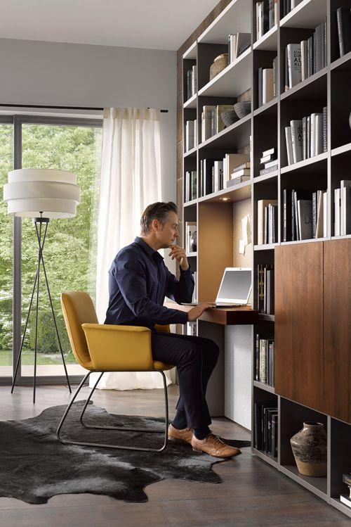 Schön Ein Arbeitsplatz Im Wohnzimmer   Praktisch, Unauffällig Und Schick Mit  Global 4450. Mehr Ideen
