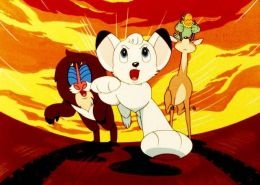 Kimba the white lion cartoon