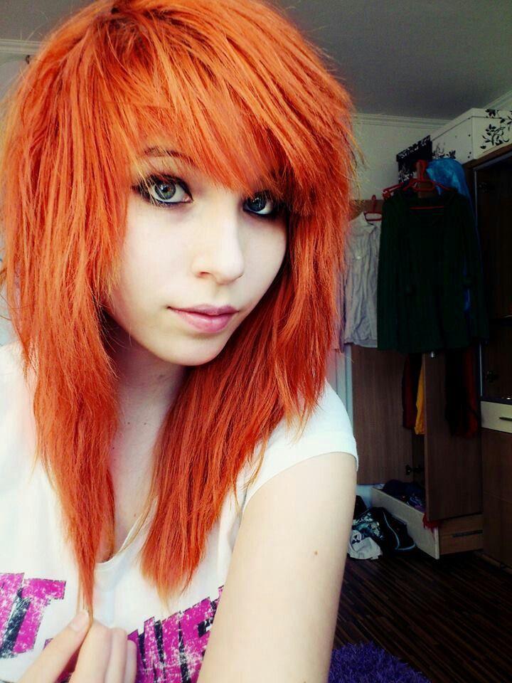 Orange emo hair | Pinned by Baki Hamma | Emo/Scene Hair ...