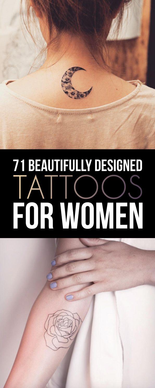 71 Beautifully Designed Tattoos For Women   TattooBlend