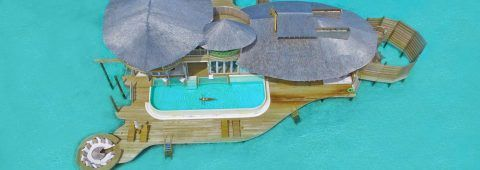 Soneva Jani in the Maldives! Retractable roof and on site PADI dive center! AND THE VILLA HAS A SLIDE! <3