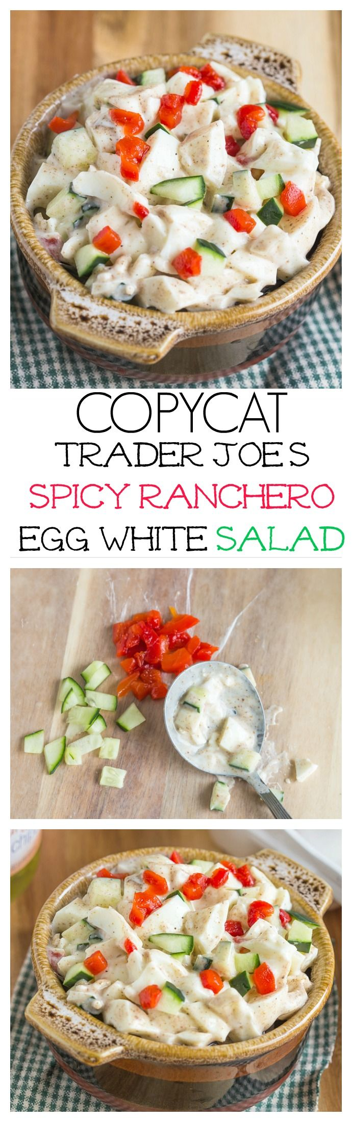 COPYCAT TRADER JOE'S Spicy Ranchero Egg White Salad- The perfect high protein snack or salad recipe with a dairy free option! Paleo and Whole30 too- NO Longer stocked in stores! thebigmansworld.com
