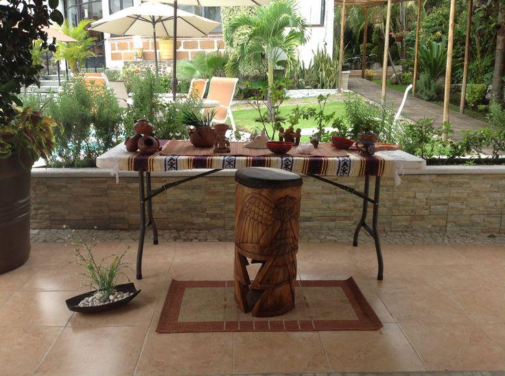 Preparación de instrumentos prehispánicos para entrada al Temazcal Metztli