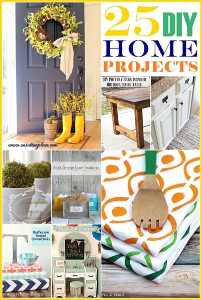 It is Wednesday! Time to party and show the world how amazing you guys are. I love to feature and celebrate your creativity every week… You guys are extraordinary! Here are over 25 DIY Home Projects that were linked up last week.  Enjoy! Rain Boot Vase @ On Sutton Place Such a cute id...