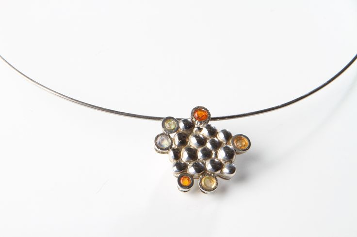 """Nostalgy"" Silver and fireopal by Rikke Borch"