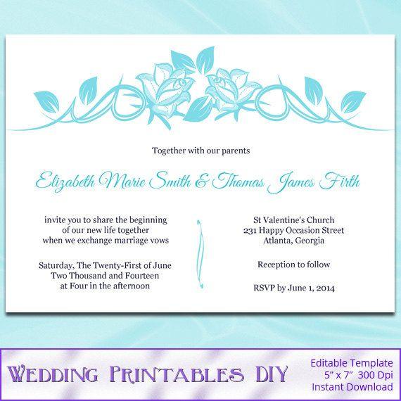 47 best wedding templates images on pinterest | wedding stationery, Wedding invitations