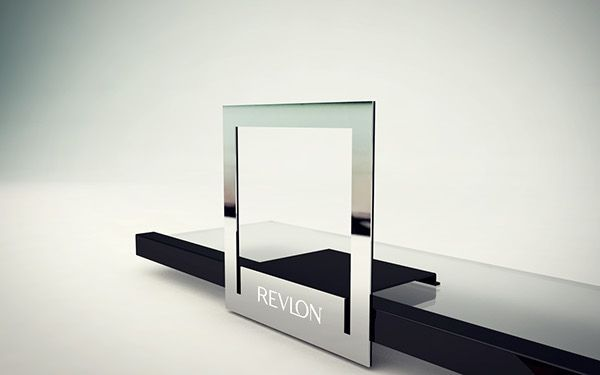 Revlon design elements to organize products on display on Behance