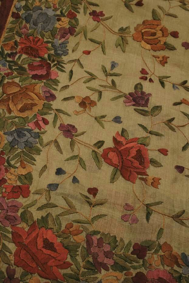Parsi embroidery on tussar