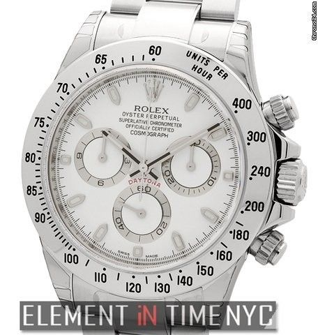 Rolex Daytona Stainless Steel 40mm White Dial Reference #: 116520