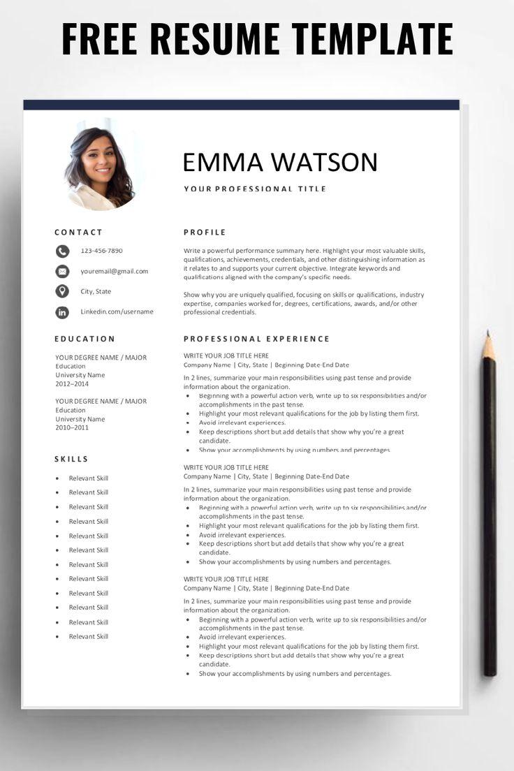 50 Job Resume Tips 2019 In 2020 Resume Template Free Job Resume Template Resume Template
