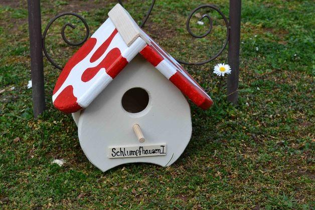 """Der Name Ihres Hauses: Mushroom - Birdy - Themenhaus - """"Schlumpfhausen 1""""  Aktuelle Ereignisse, Themen, Jahreszeiten oder weitere Ideen lassen die individuelle Little - Bird - Themenhaus Reihe..."""