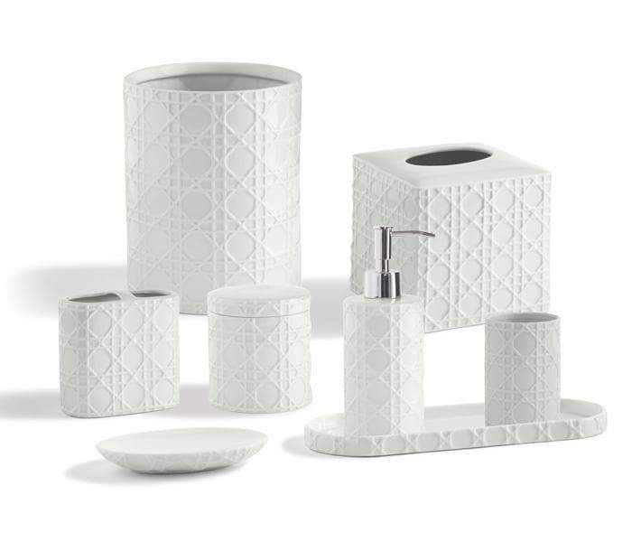 Rattan Porcelain Bathroom Accessories Bathroom Accessories Bath