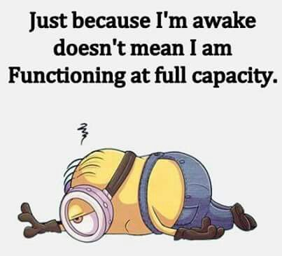 I'm awake everyday, but never am I functioning at full capacity