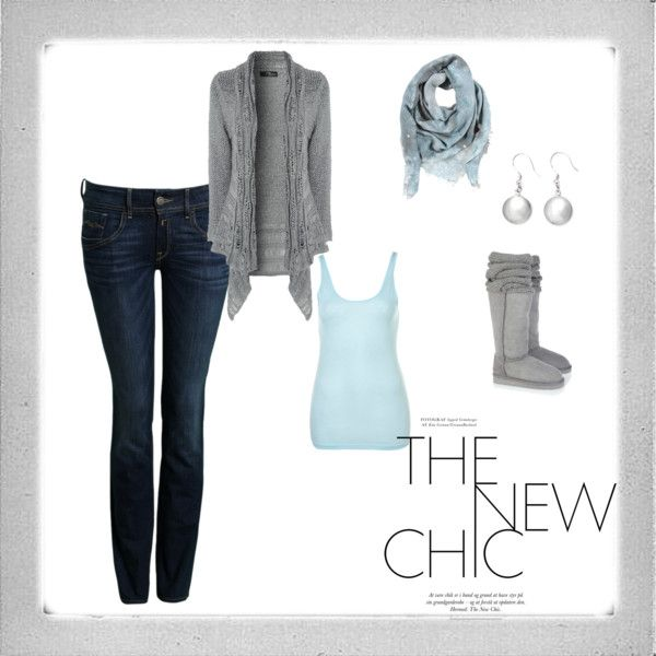 """Gray and Blue for Fall"" by jessica-hull-arnold on Polyvore"