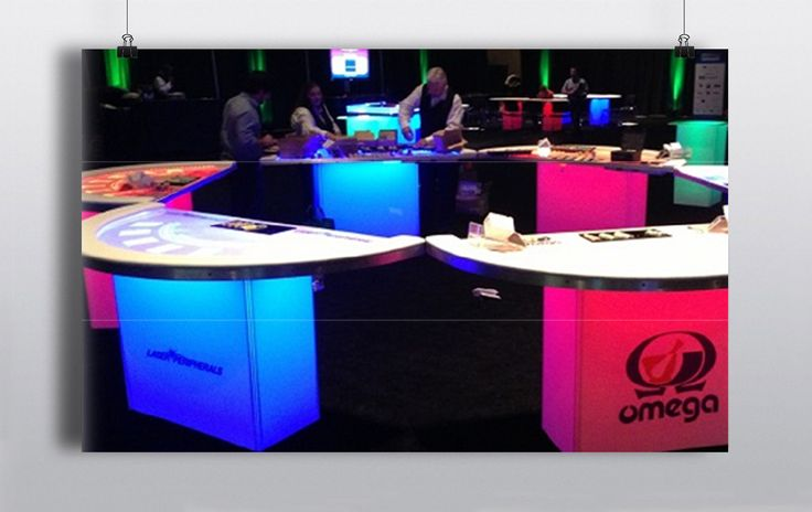 LED Casino tables available in roulette, blackjack & 3  card poker.  Tables can be branded with logos & graphics of your choice. http://www.prophouse.ie/portfolio/led-tables/